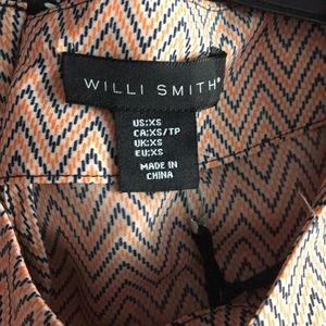 Willi Smith Tops - NWT Chevron w/ Red Trim Blouse Size XS